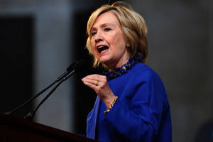 Hillary Clinton Suport's President Obama's Ban On Military-Style Gear In Police Departments